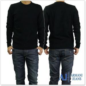 ARMANI JEANS アルマーニジーンズ メンズクルーネックセーター 6Y6MD1 6MFKZ ブラック tre-style