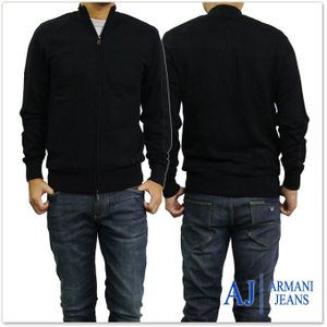 ARMANI JEANS アルマーニジーンズ メンズジップアップカーディガン 6Y6EA6 6M0IZ ブラック tre-style