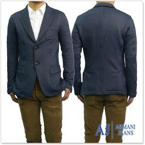 ARMANI JEANS アルマーニジーンズ メンズシングル2Bスウェットジャケット 6Y6G21 6J1EZ ネイビー|tre-style