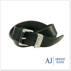 ARMANI JEANS アルマーニジーンズ メンズレザーベルト 931119 7A817 ブラック /2017秋冬新作|tre-style