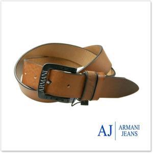 ARMANI JEANS アルマーニジーンズ メンズレザーベルト 931099 7A812 ブラウン /2017秋冬新作|tre-style