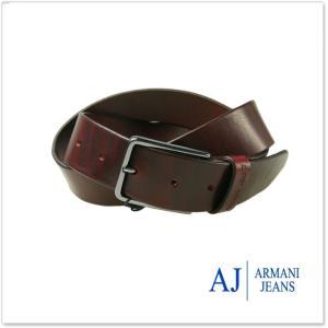 ARMANI JEANS アルマーニジーンズ メンズレザーベルト 931121 7A833 ボルドー /2017秋冬新作|tre-style