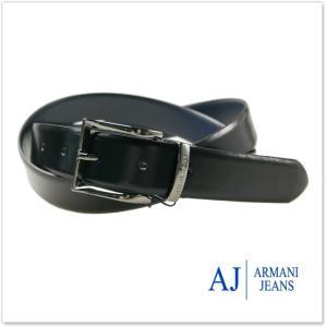 ARMANI JEANS アルマーニジーンズ メンズフリーサイズリバーシブルレザーベルト 931085 7A824 ネイビー×ブラック /2017秋冬新作|tre-style