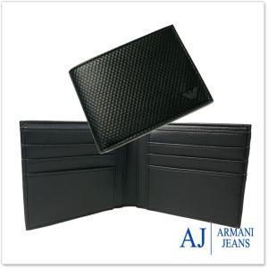 ARMANI JEANS アルマーニジーンズ メンズ二つ折財布 938012 7A941 ブラック|tre-style