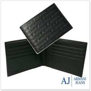 ARMANI JEANS アルマーニジーンズ メンズ二つ折財布 938539 CC999 ブラック|tre-style