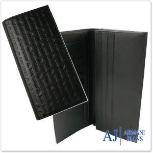 ARMANI JEANS アルマーニジーンズ メンズ長財布(小銭入れ付き) 938543 CC999 ブラック|tre-style