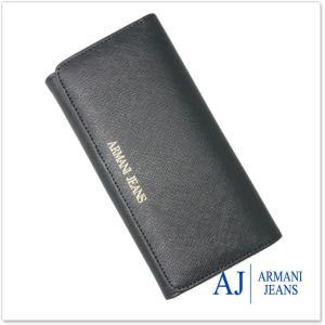 ARMANI JEANS アルマーニジーンズ レディース長財布(小銭入れ付き) 928541 CC857 ブラック /2017秋冬新作|tre-style