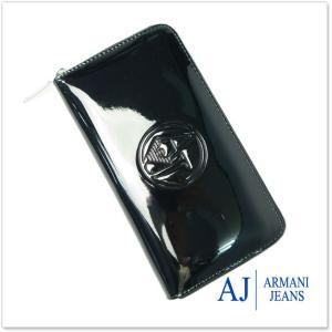 ARMANI JEANS アルマーニジーンズ レディースラウンドファスナー長財布(小銭入れ付き) 928532 CC850 ブラック|tre-style