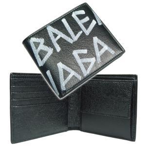 4f1bab210063 BALENCIAGA バレンシアガ メンズ二つ折り財布(小銭入れ付き) CARRY SQ COIN WALLET / 510476 0EE12 ブラック  /2019春夏新作
