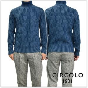 CIRCOLO1901 チルコロ1901 メンズタートルネックセーター CN1765 ネイビー tre-style