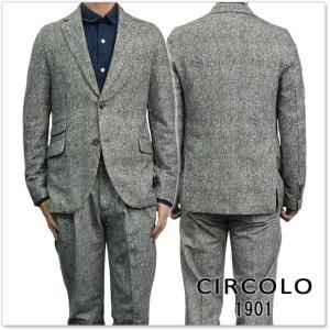 CIRCOLO1901 チルコロ1901 メンズジャージー素材シングル2Bジャケット CN1586 グレー|tre-style