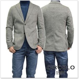 CIRCOLO1901 チルコロ1901 メンズジャージー素材シングル2Bジャケット CN1694 グレー|tre-style
