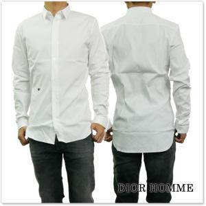 DIOR HOMME ディオールオム メンズBEE刺繍入りドレスシャツ 733C514B1223 ホワイト|tre-style