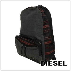 DIESEL ディーゼル バックパック/リュック DE-YANKI BACK NEW / X04018 P0184 グレージーンズ|tre-style