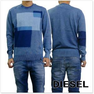 DIESEL ディーゼル メンズクルーネックセーター K-PATCH / 00SZUB-0LAPO ブルー tre-style