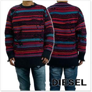 DIESEL ディーゼル メンズクルーネックセーター K-DESTRY / 00S3KE-0NARF レッド tre-style