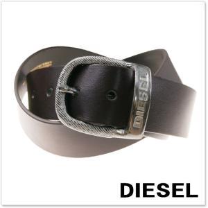 DIESEL ディーゼル メンズレザーベルト BAWRE / X03717 PR250 ブラウン|tre-style