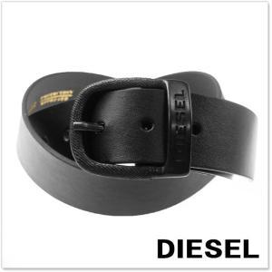 DIESEL ディーゼル メンズレザーベルト BAWRE / X03717 PR250 ブラック|tre-style
