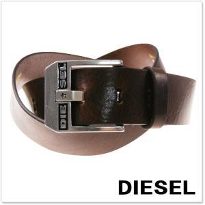 DIESEL ディーゼル メンズレザーベルト BLUESTAR / X03728 PR227 ブラウン|tre-style
