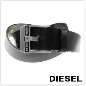 DIESEL ディーゼル メンズレザーベルト BLUESTAR / X03728 PR227 ブラック|tre-style