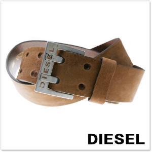 DIESEL ディーゼル メンズレザーベルト BIT / X03714 PR047 ブラウン|tre-style