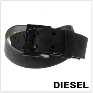 DIESEL ディーゼル メンズレザーベルト BIT / X03714 PR047 ブラック|tre-style