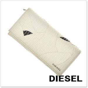DIESEL ディーゼル レザー二つ折長財布(小銭入れ付き) 24 DAY / X04978 PO753 ホワイト|tre-style