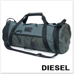 DIESEL ディーゼル ボストン/ショルダーバッグ D-RUNNING DUFFLE / X04601 P1251 ブルー×カモフラージュ|tre-style