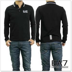 EMPORIO ARMANI エンポリオアルマーニ EA7 メンズ長袖ポロシャツ 6YPE54 PJ03Z ブラック /2017秋冬新作|tre-style