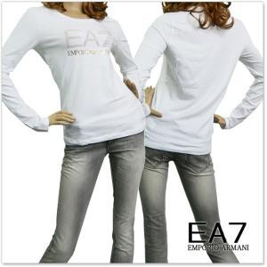 EMPORIO ARMANI エンポリオアルマーニ EA7 レディースクルーネックロングTシャツ 6YTT26 TJ12Z ホワイト /2017秋冬新作|tre-style