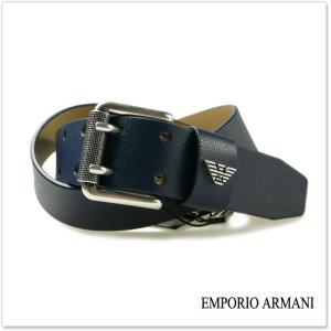 EMPORIO ARMANI エンポリオアルマーニ メンズレザーベルト Y4S079 YAQ2G ブルー /2017秋冬新作|tre-style