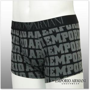 EMPORIO ARMANI UNDERWEAR エンポリオアルマーニアンダーウェア ボクサーパンツ 111290 6A508 ブラック|tre-style