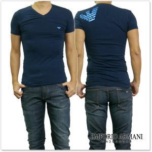 EMPORIO ARMANI UNDERWEAR エンポリオアルマーニアンダーウェア メンズVネックTシャツ 110810 7A745 ネイビー /2017秋冬新作 tre-style