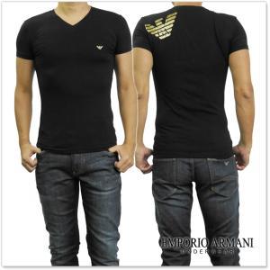 EMPORIO ARMANI UNDERWEAR エンポリオアルマーニアンダーウェア メンズVネックTシャツ 110810 7A745 ブラック /2017秋冬新作 tre-style