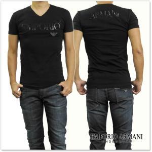EMPORIO ARMANI UNDERWEAR エンポリオアルマーニアンダーウェア メンズVネックTシャツ 110810 7A516 ブラック /2017秋冬新作 tre-style