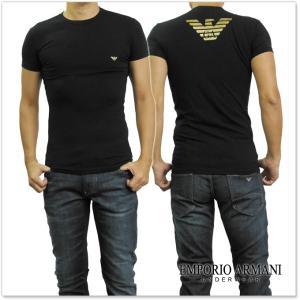 EMPORIO ARMANI UNDERWEAR エンポリオアルマーニアンダーウェア メンズクルーネックTシャツ 111035 7A745 ブラック /2017秋冬新作 tre-style