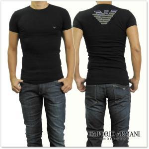 EMPORIO ARMANI UNDERWEAR エンポリオアルマーニアンダーウェア メンズクルーネックTシャツ 111035 7A725 ブラック /2017秋冬新作 tre-style