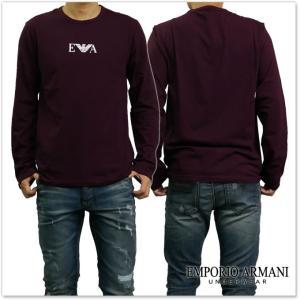 EMPORIO ARMANI UNDERWEAR エンポリオアルマーニアンダーウェア メンズクルーネックロングTシャツ 111653 7A715 ワイン /2017秋冬新作 tre-style