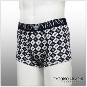 EMPORIO ARMANI UNDERWEAR エンポリオアルマーニアンダーウェア ボクサーパンツ 111290 7P506 ホワイト×ネイビー|tre-style