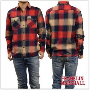 FRANKLIN&MARSHALL フランクリン&マーシャル メンズチェックシャツ SHMF398AN レッド×ネイビー|tre-style