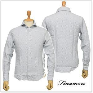 FINAMORE フィナモレ メンズカッタウェイシャツ SIMONE / GENOVA 012107 ライトブルー|tre-style