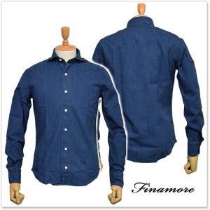 FINAMORE フィナモレ メンズカッタウェイシャツ SIMONE(シモーネ)/GENOVA 043985 ブルー|tre-style