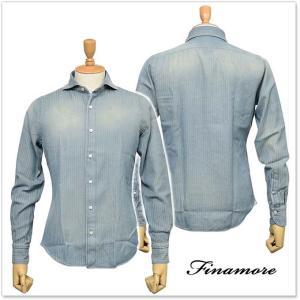 FINAMORE フィナモレ メンズカッタウェイシャツ SIMONE(シモーネ)/GENOVA 2011639 ブルー|tre-style