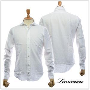 FINAMORE フィナモレ メンズカッタウェイシャツ SIMONE(シモーネ)/ GENOVA 980166 ホワイト|tre-style