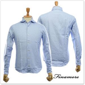 FINAMORE フィナモレ メンズカッタウェイシャツ SIMONE(シモーネ)/ GENOVA 012218 ブルー|tre-style