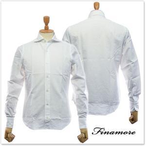 FINAMORE フィナモレ メンズカッタウェイシャツ SIMONE(シモーネ)/ GENOVA 080103 ホワイト|tre-style