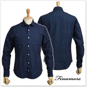 FINAMORE フィナモレ メンズカッタウェイシャツ MAREVA / GENOVA 043985 ネイビー|tre-style