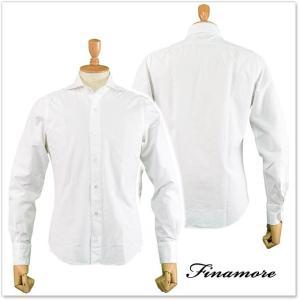 FINAMORE フィナモレ メンズカッタウェイシャツ SIMONE(シモーネ)/GENOVA 080103 ホワイト|tre-style