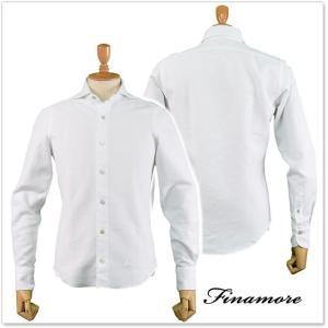 FINAMORE フィナモレ メンズカッタウェイシャツ SIMONE(シモーネ)/GENOVA 012278 ホワイト|tre-style