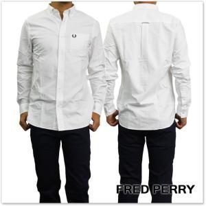 FRED PERRY フレッドペリー メンズシャツ M9546 / CLASSIC OXFORD SHIRT ホワイト|tre-style